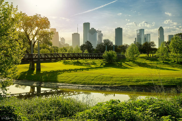 Sun rise, houston, spring, morning,