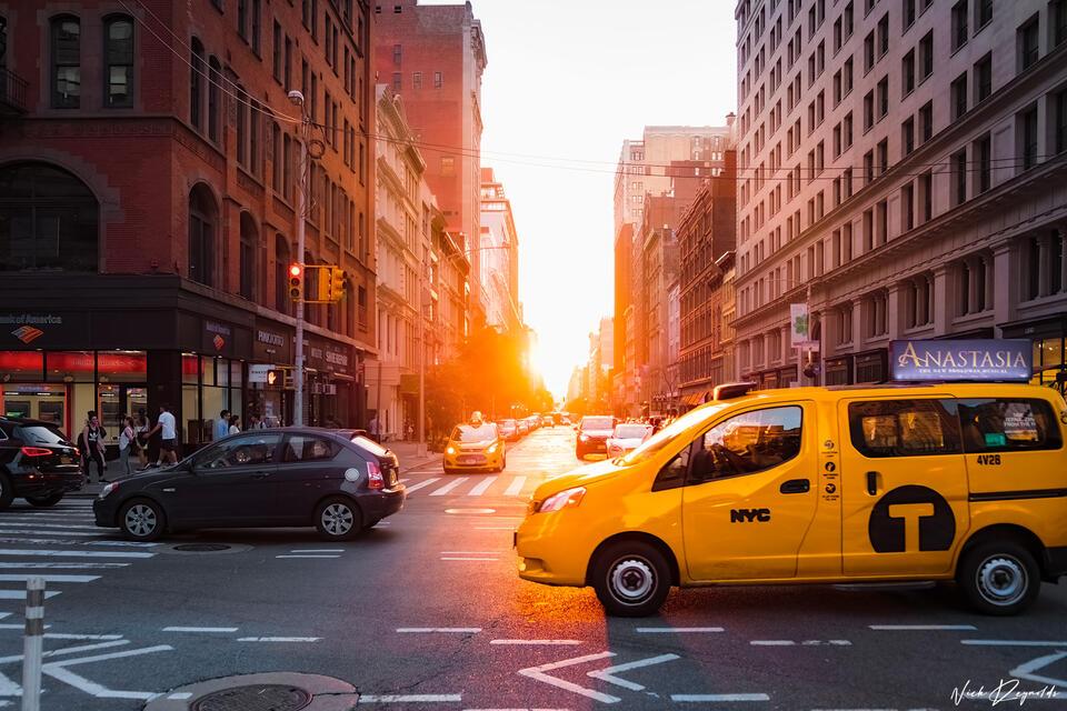 Limited, Edition, Fine, art, streets, New York, Taxi, New, York, City, sunset, bustling, metropolitan, area, urban, landmass, megacities, New York Minute, United States, major city, power city,